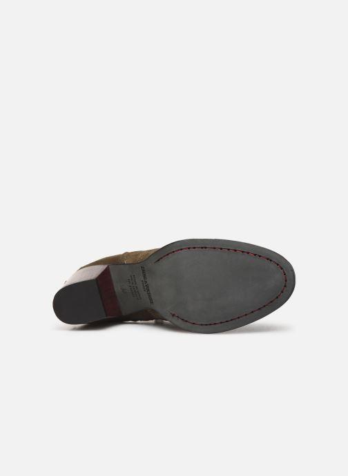 Bottines et boots Zadig & Voltaire Molly Suede Vert vue haut