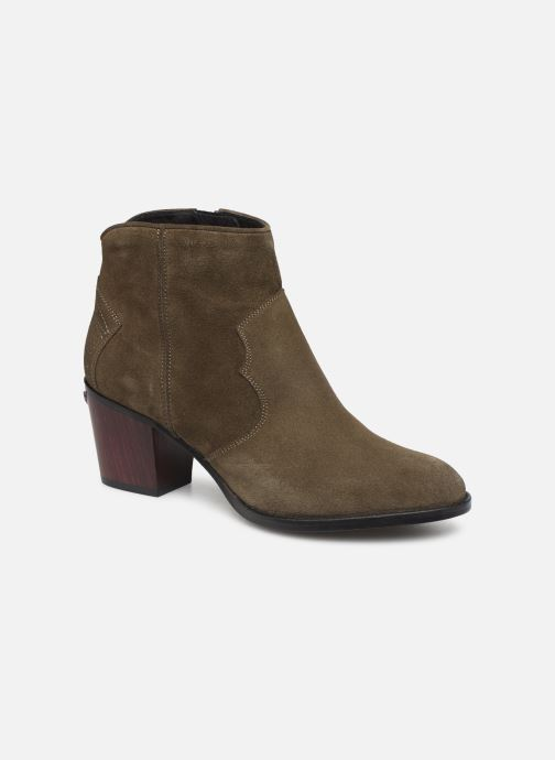 Ankle boots Zadig & Voltaire Molly Suede Green detailed view/ Pair view