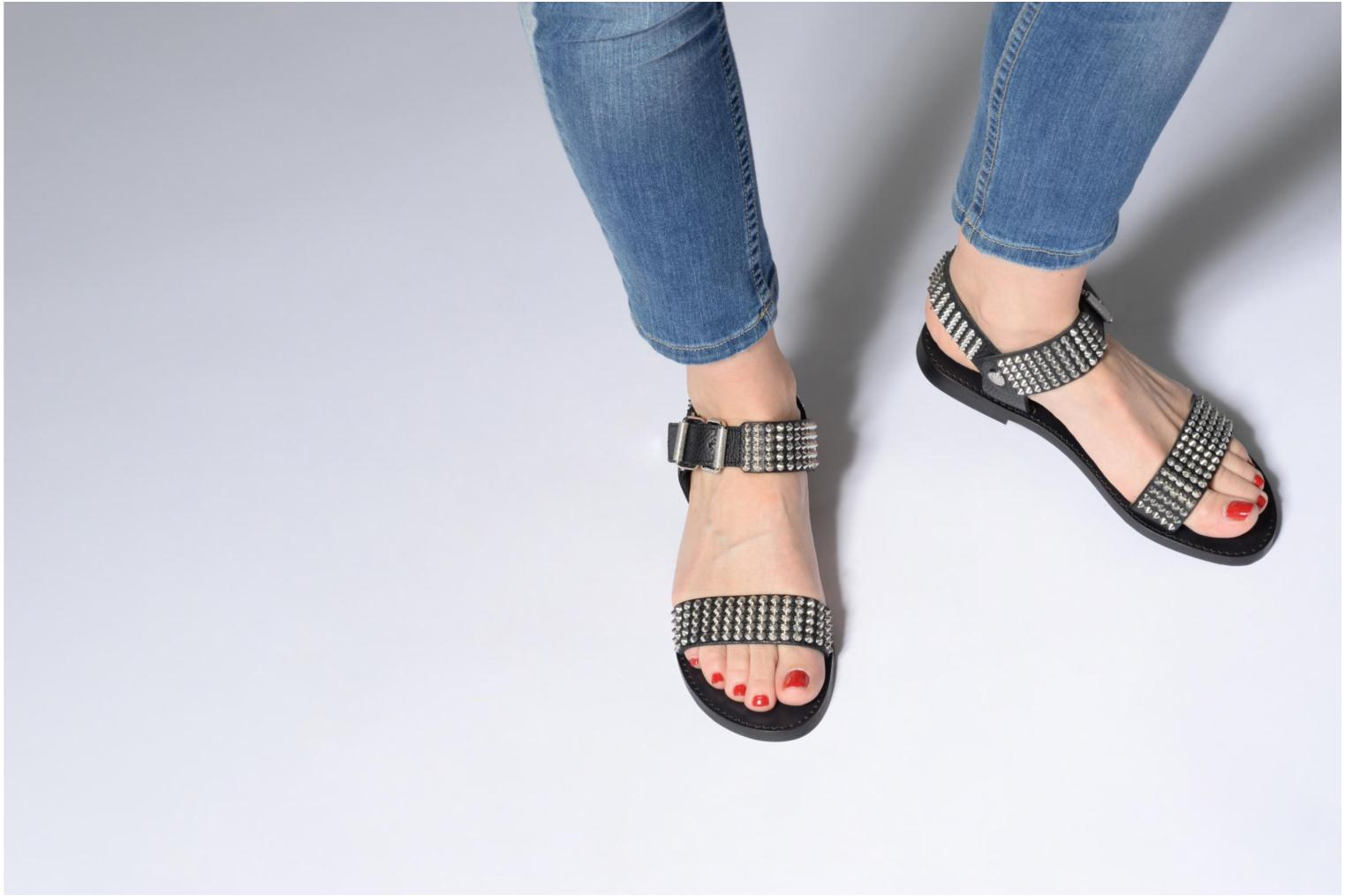 Sandals Zadig & Voltaire ROMAN Black view from underneath / model view