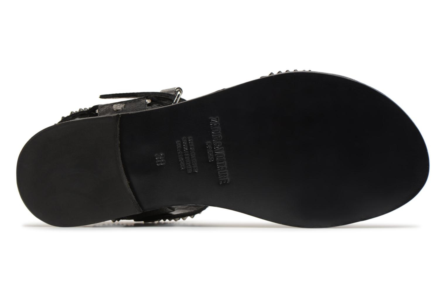Sandals Zadig & Voltaire ROMAN Black view from above
