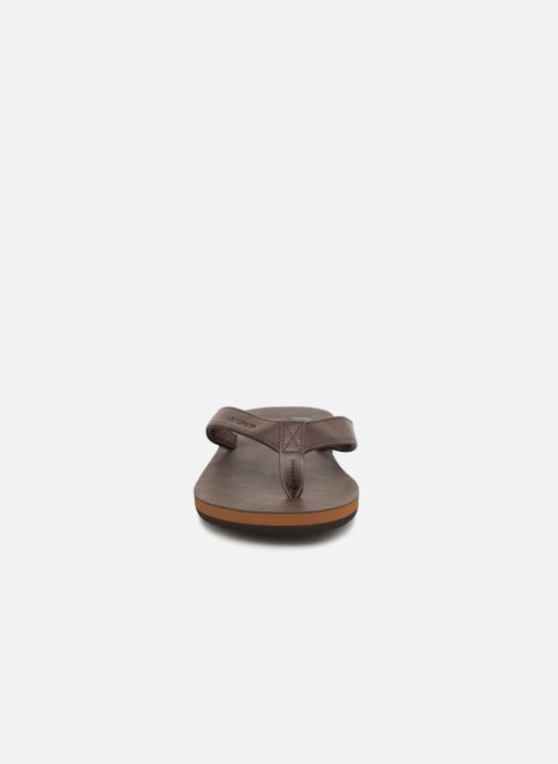 Flip flops Quiksilver Molokai Nubuck Brown model view
