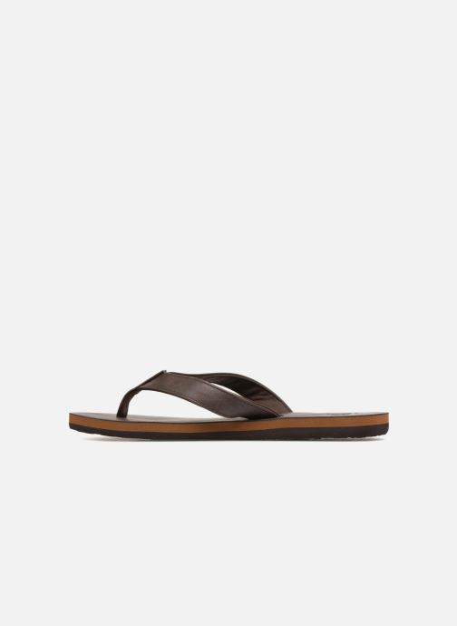 Tongs Quiksilver Molokai Nubuck Marron vue face