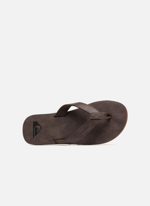 Flip flops Quiksilver Molokai Nubuck Brown view from the left