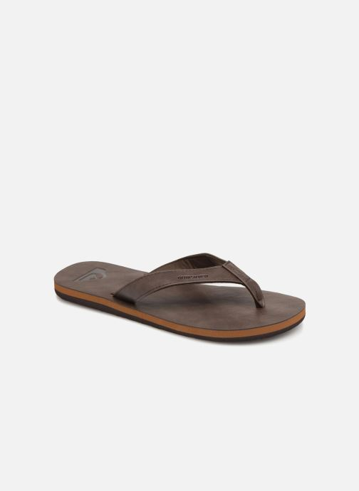 Flip flops Quiksilver Molokai Nubuck Brown detailed view/ Pair view