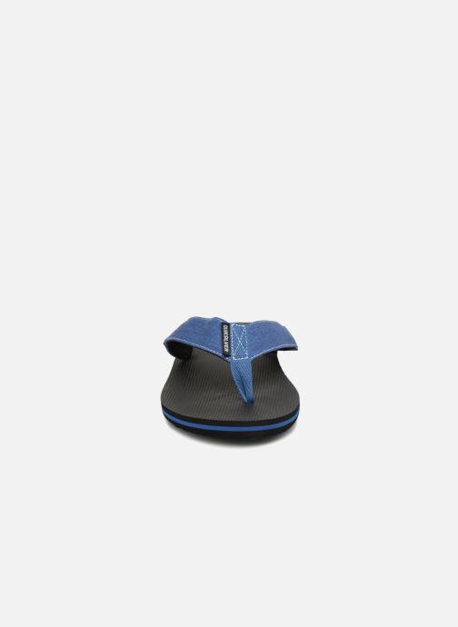 Tongs Quiksilver Molokai Abyss Bleu vue portées chaussures