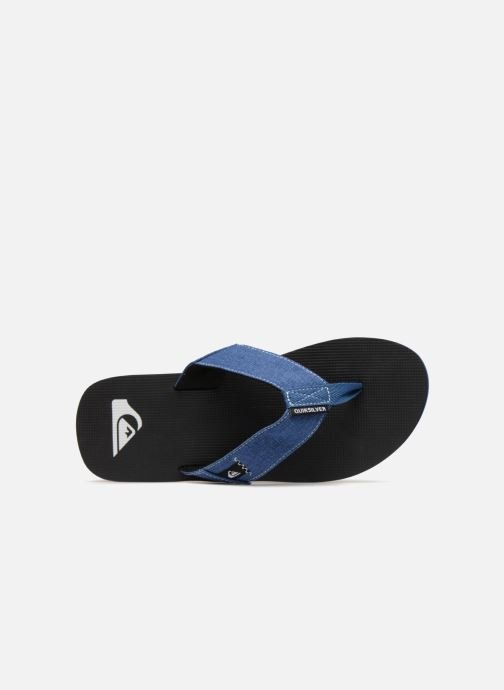 Flip flops Quiksilver Molokai Abyss Blue view from the left