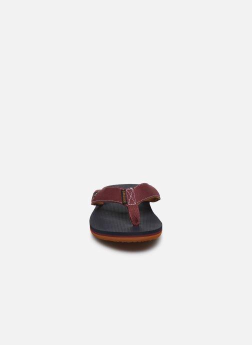 Tongs Quiksilver Molokai Abyss Bordeaux vue portées chaussures