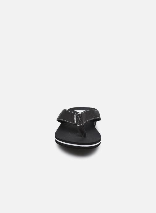 Zehensandalen Quiksilver Molokai Abyss schwarz schuhe getragen