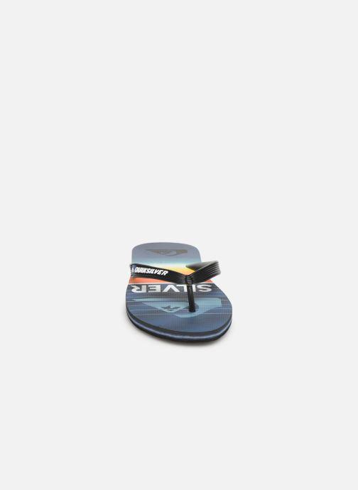 Tongs Quiksilver Molokai Highline Slab Bleu vue portées chaussures