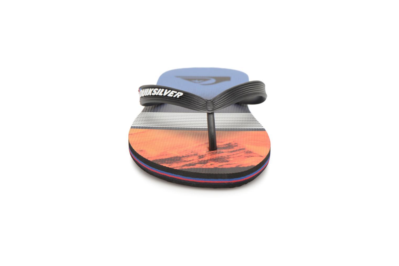 Flip flops Quiksilver Molokai Lava Division Multicolor model view