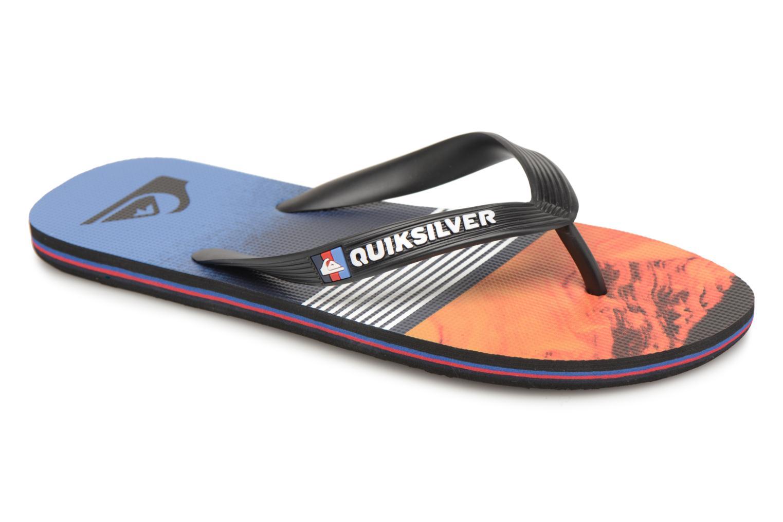 Flip flops Quiksilver Molokai Lava Division Multicolor detailed view/ Pair view
