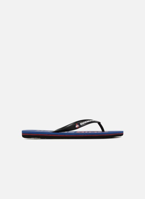 Flip flops Quiksilver Molokai Wordmark Blue back view