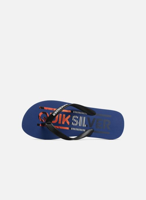 Flip flops Quiksilver Molokai Wordmark Blue view from the left