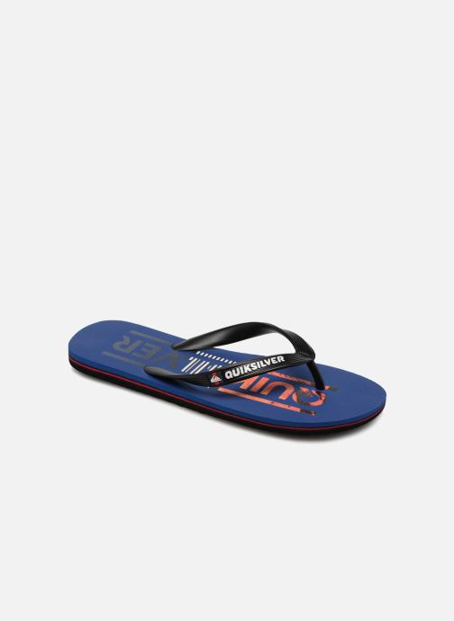 Flip flops Quiksilver Molokai Wordmark Blue detailed view/ Pair view