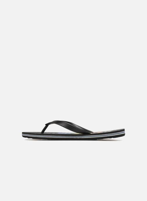 Flip flops Quiksilver Molokai Wordmark Black front view