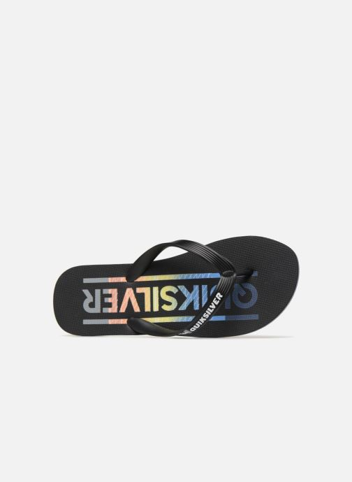 Flip flops Quiksilver Molokai Wordmark Black view from the left