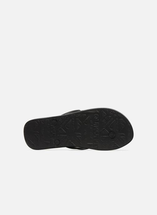 Flip flops Quiksilver Molokai Wordmark Black view from above