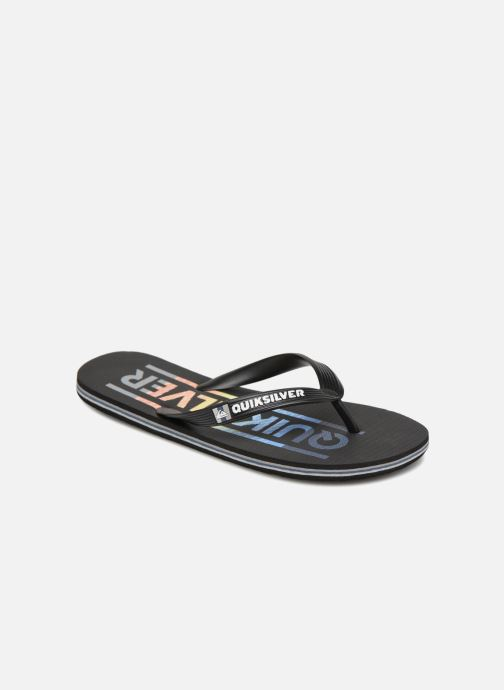 Flip flops Quiksilver Molokai Wordmark Black detailed view/ Pair view
