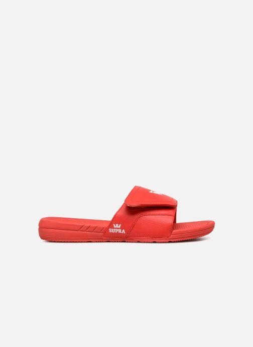Sandales et nu-pieds Supra Locker Rouge vue derrière