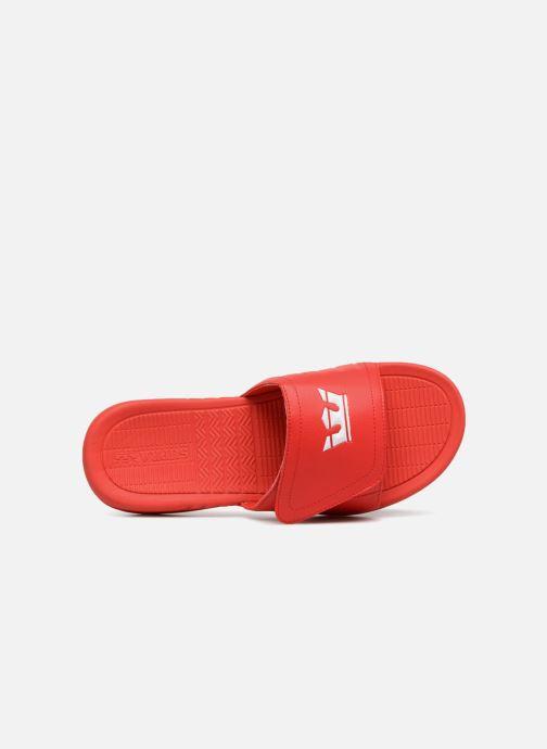 Sandales et nu-pieds Supra Locker Rouge vue gauche
