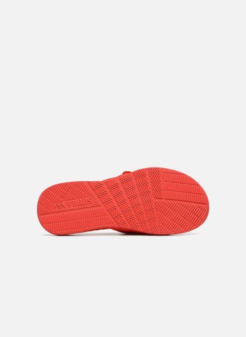 Sandales et nu-pieds Supra Locker Rouge vue haut