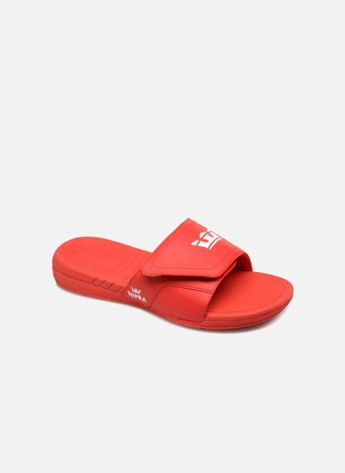 Sandales et nu-pieds Supra Locker Rouge vue détail/paire