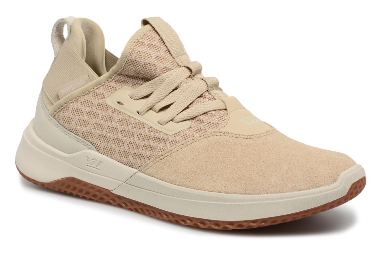 Supra Titanium (Beige) - Baskets en Más cómodo Chaussures femme pas cher homme et femme