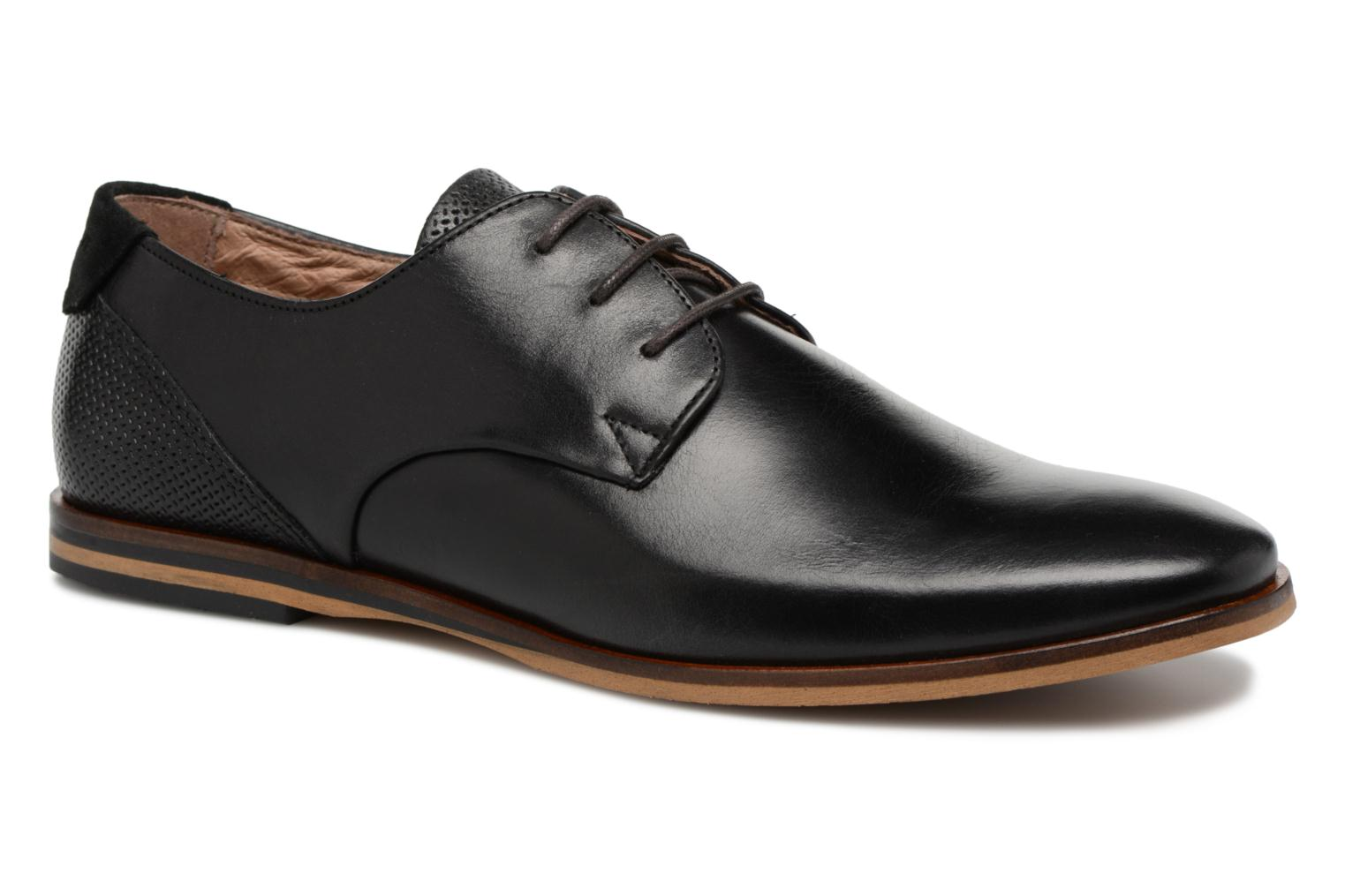 Lace-up shoes Schmoove Swan Derby Tornado/Motta Black detailed view/ Pair view
