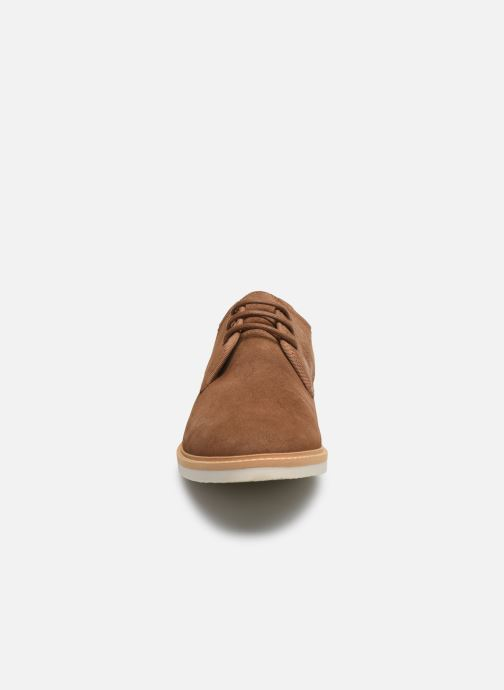 Chaussures à lacets Schmoove Fly Derby Suede Marron vue portées chaussures