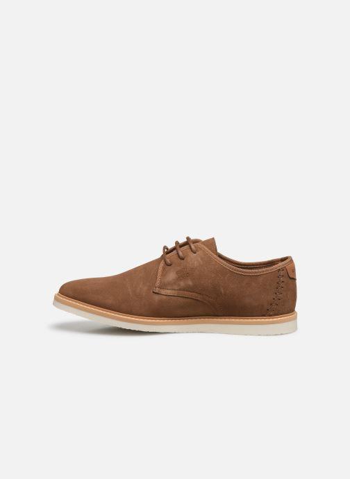 Chaussures à lacets Schmoove Fly Derby Suede Marron vue face