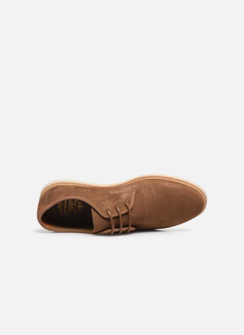 Chaussures à lacets Schmoove Fly Derby Suede Marron vue gauche