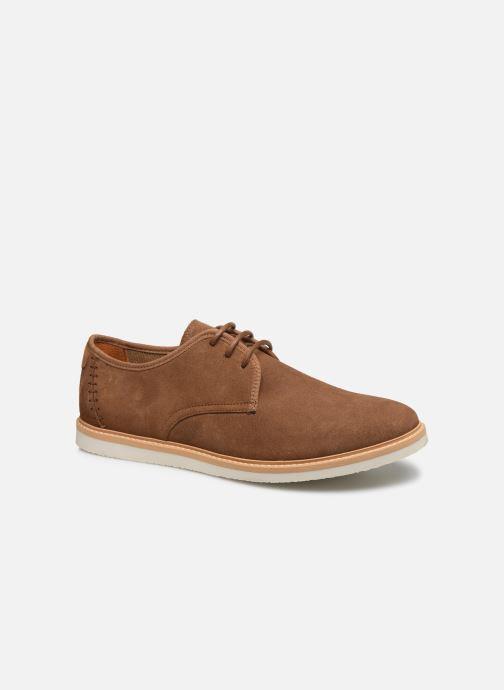 Chaussures à lacets Schmoove Fly Derby Suede Marron vue détail/paire
