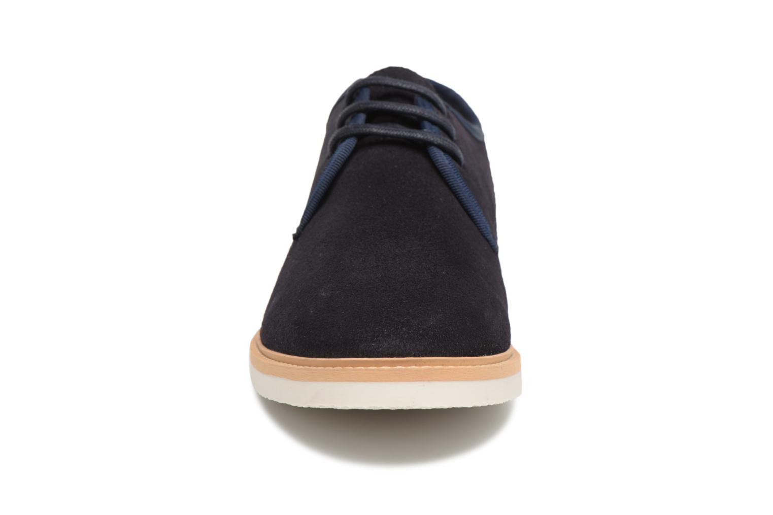 Lace-up shoes Schmoove Fly Derby Suede Blue model view