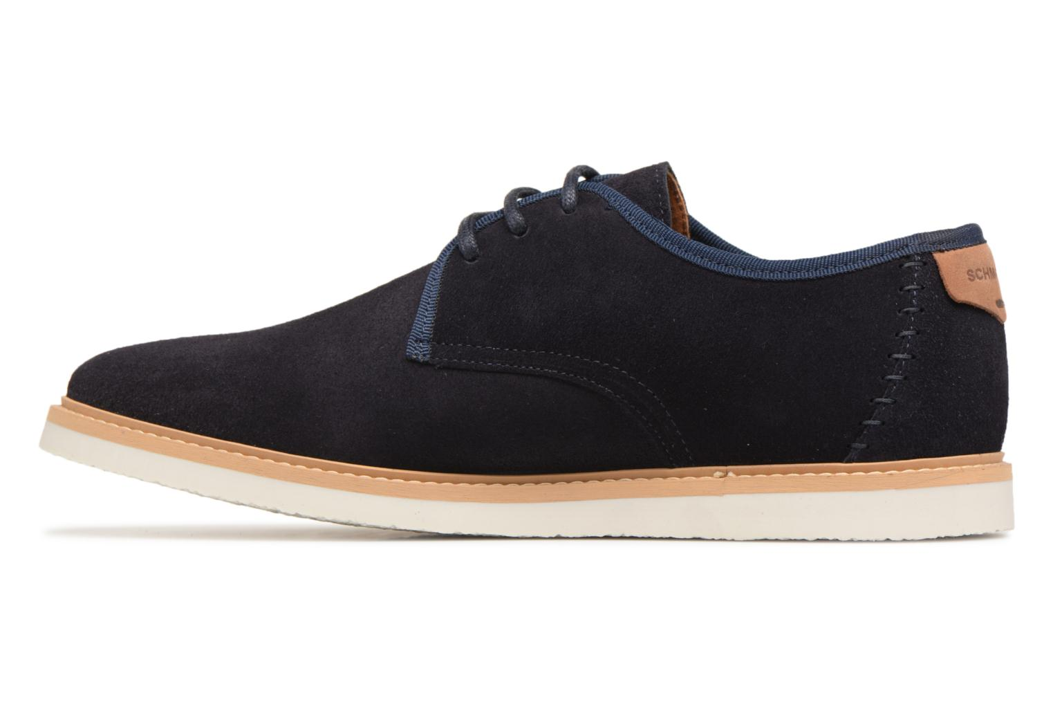 Lace-up shoes Schmoove Fly Derby Suede Blue front view