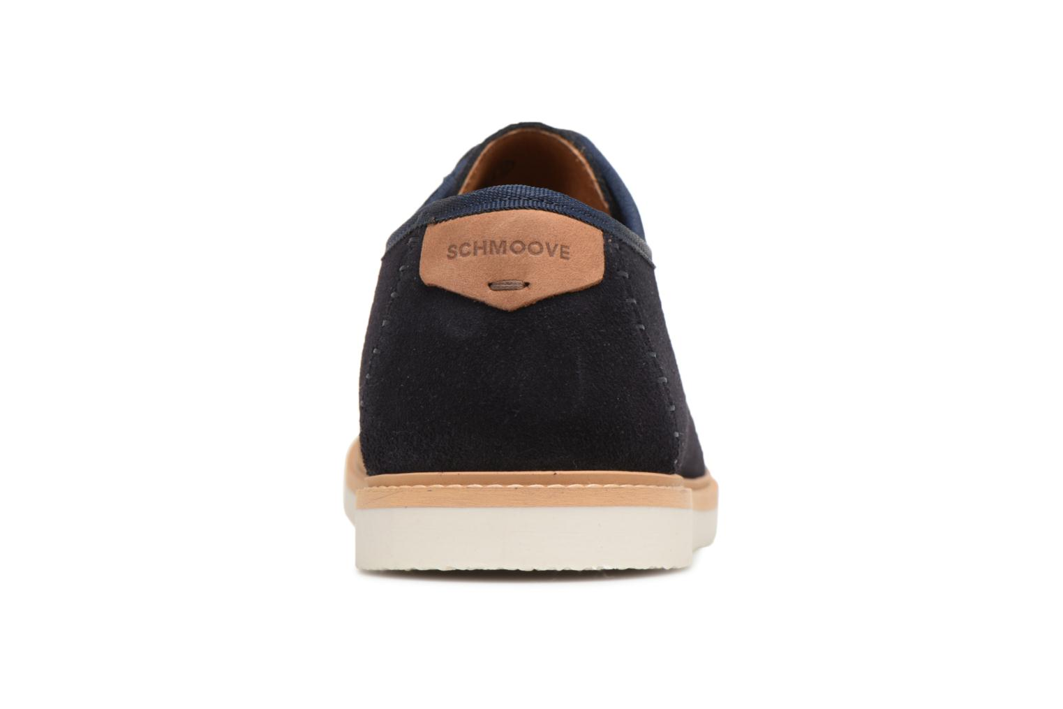 Lace-up shoes Schmoove Fly Derby Suede Blue view from the right