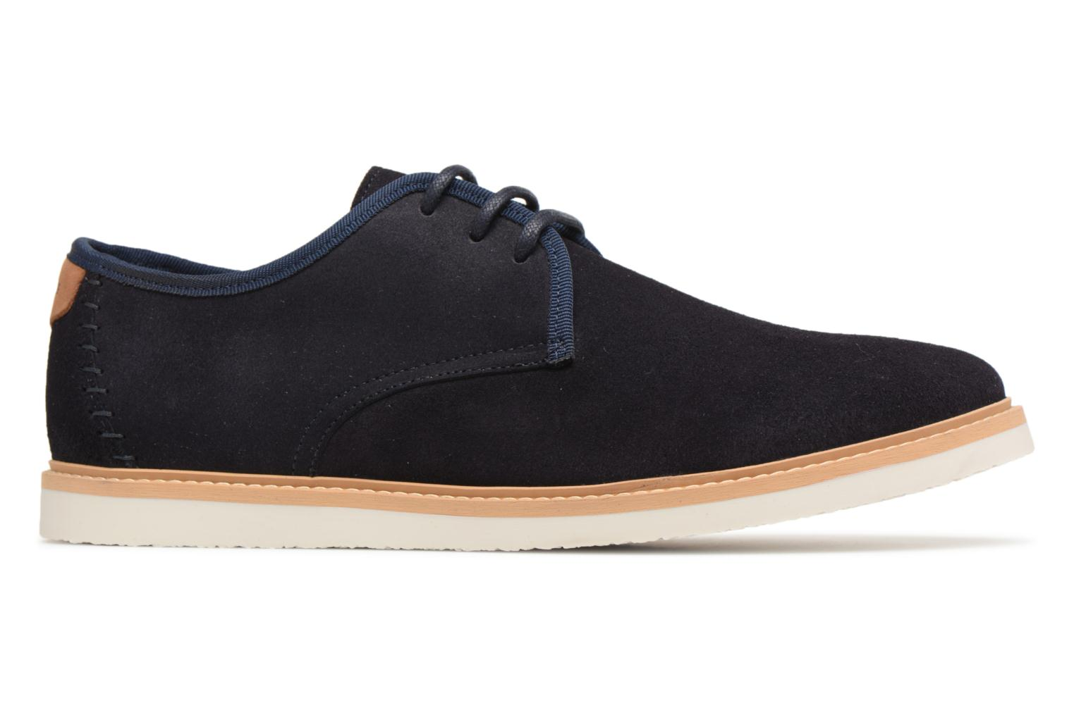 Lace-up shoes Schmoove Fly Derby Suede Blue back view