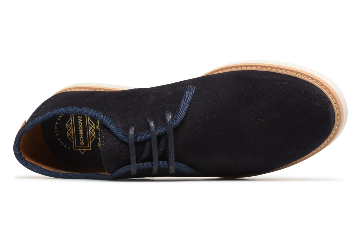 Lace-up shoes Schmoove Fly Derby Suede Blue view from the left