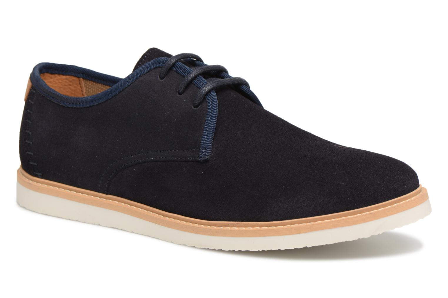 Lace-up shoes Schmoove Fly Derby Suede Blue detailed view/ Pair view