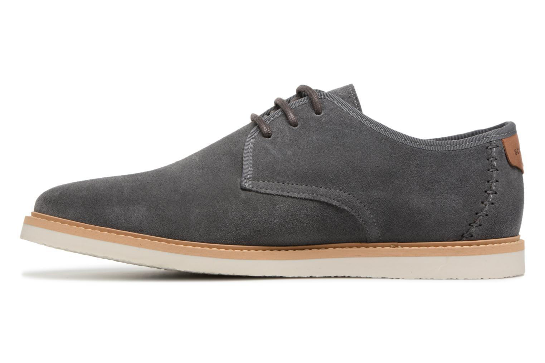 Chaussures à lacets Schmoove Fly Derby Suede Gris vue face