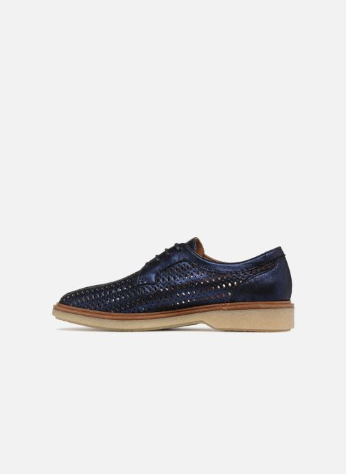 Lace-up shoes Schmoove Woman Darwin Classic Douro Blue front view