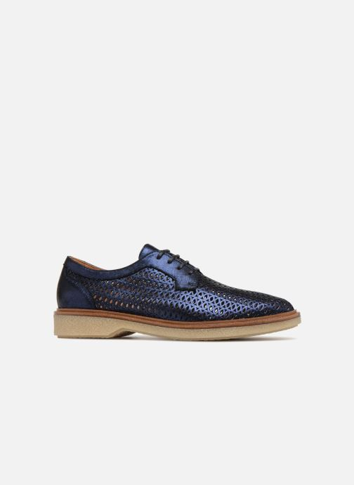 Lace-up shoes Schmoove Woman Darwin Classic Douro Blue back view