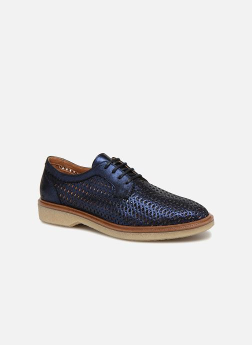 Lace-up shoes Schmoove Woman Darwin Classic Douro Blue detailed view/ Pair view