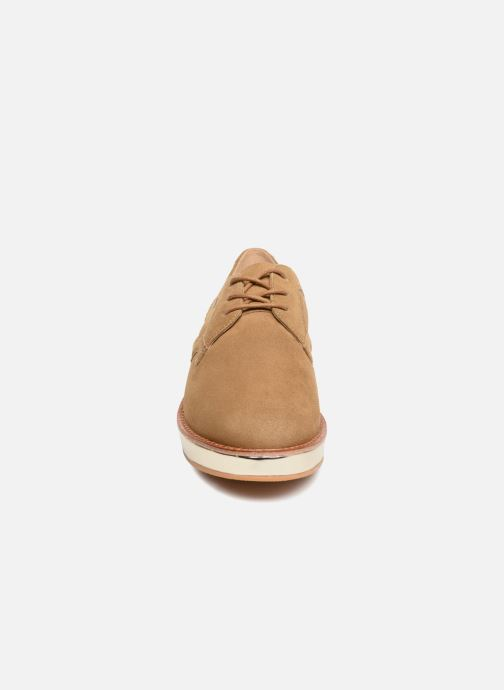 Lace-up shoes Schmoove Woman Ariane Derby Beige model view