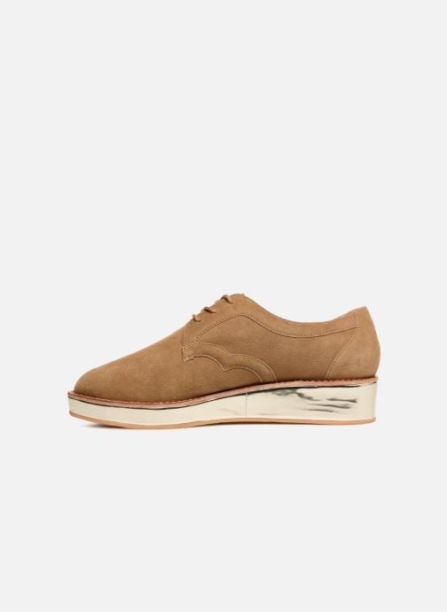 Lace-up shoes Schmoove Woman Ariane Derby Beige front view