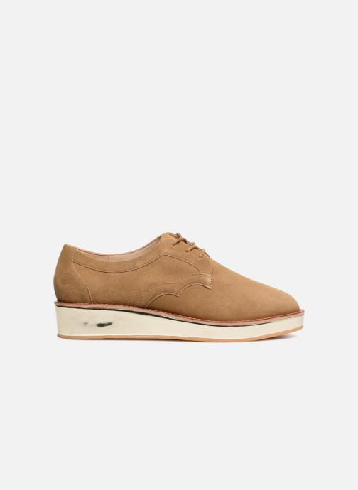 Lace-up shoes Schmoove Woman Ariane Derby Beige back view