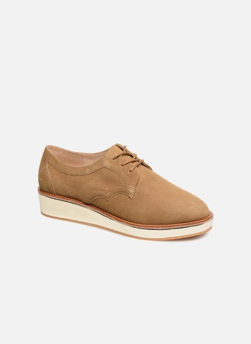 Lace-up shoes Schmoove Woman Ariane Derby Beige detailed view/ Pair view