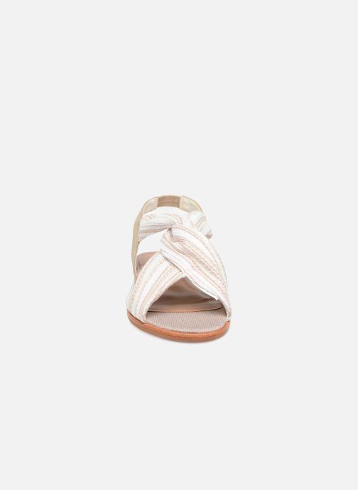 Sandales et nu-pieds Schmoove Woman Pyxsis Knot Lima Blanc vue portées chaussures
