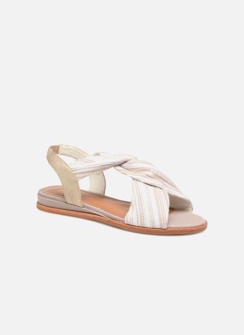 Sandales et nu-pieds Schmoove Woman Pyxsis Knot Lima Blanc vue détail/paire