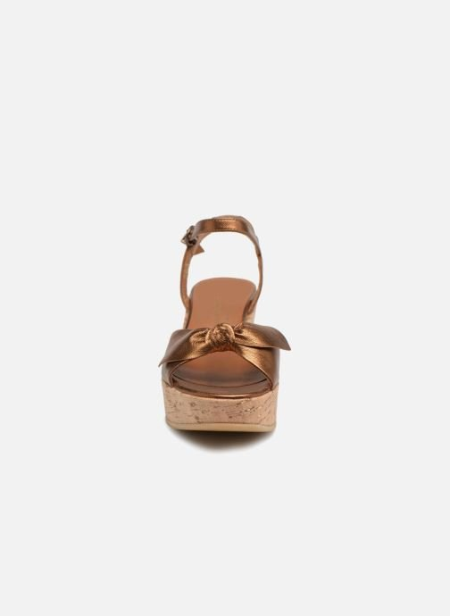 Sandals Schmoove Woman Ariel Ankle Metal Milled Bronze and Gold model view