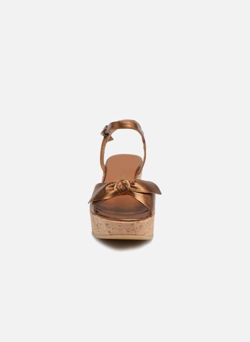 Sandales et nu-pieds Schmoove Woman Ariel Ankle Metal Milled Or et bronze vue portées chaussures